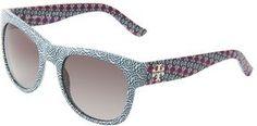 http://elle.shopstyle.com: Tory Burch - TY9026 (Navy Tribal/Gray Gradient) - Eyewear