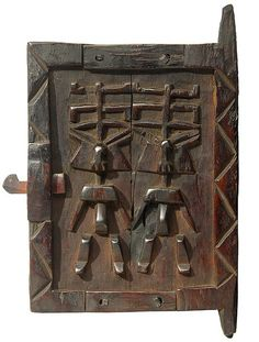 Dogon Granary Door, Mali***** African Wood Carvings, Afrique Art, Sculpture Lessons, Pattern And Decoration, Traditional Doors, Unique Doors, Old Doors, African Culture, Entrance Doors