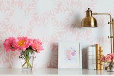 Caitlin Wilson Silhouette in Blush Wallpaper
