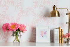 Caitlin Wilson Silhouette in Blush Wallpaper
