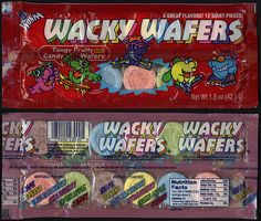 Wonka's Wacky Wafers - my all time favorite candy! Retro Candy, Vintage Candy, Vintage Toys, School Memories, Great Memories, Childhood Toys, Childhood Memories, Old School Candy, Souvenir