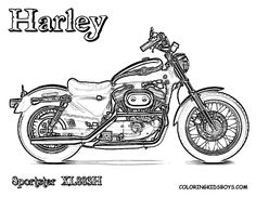 free harley davidson motocycle coloring pages harley davidson sportster coloring pages best motocycle