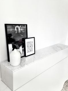 Ikea Besta Storage Unit with Custom Marble Top