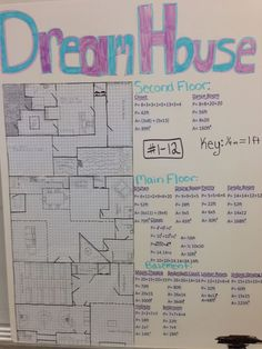 Every year my 8th grade math students design their own Dream House. Great way for them to practice geometry formulas, use proportional reasoning, & get creative!
