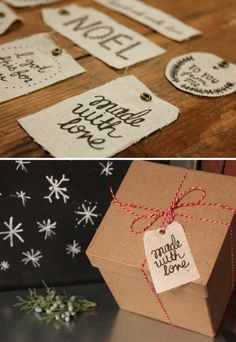Print on Fabric | Holiday Gift Tags | Use freezer paper to stabilize paper for printer | Kollabora