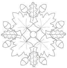 * Mandala: Herfstblad en eikels!