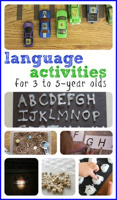 Language Activities for 3-5 Year olds Repinned by Apraxia Kids Learning. Come join us on Facebook at Apraxia Kids Learning Activities and Support- Parent Led Group.