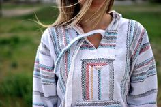 Baja Hoodie Drug Rug Jacket Pullover Poncho Mexican Threads S-3XL El Gringo in Clothing, Shoes & Accessories, Unisex Clothing, Shoes & Accs, Unisex Adult Clothing   eBay