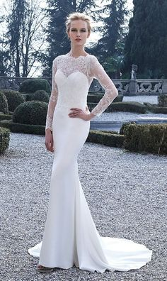 Jillian 2016 Wedding Dresses with Long Sleeves / http://www.deerpearlflowers.com/fall-winter-long-sleeve-wedding-dresses/2/