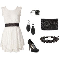 black, white and lace= love