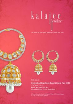 """#Hyderabad!! Don't miss to experience the beautiful world of uncut diamonds with Kalajee Jewellery, Jaipur at the """"Hyderabad Jewellery, Pearls and Gem Fair"""" from June 07 to 09, 2014.  Find us at the Booth No. A-38 Hall No. 1 Hitex Exhibition Centre, Hyderabad. #HJF #Jewellery #Exhibition"""