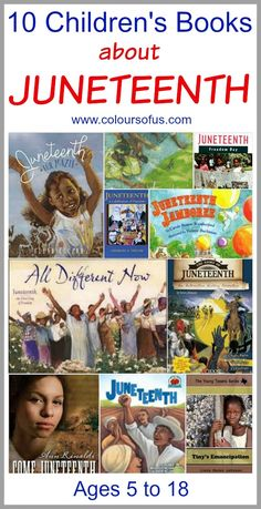 10 Children's Books celebrating Juneteenth, Ages 5 to 18 Best Children Books, Childrens Books, Teaching Kids, Kids Learning, Learning Tools, Good Books, Books To Read, Black History Books, Chapter Books