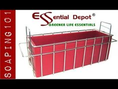 ▶ Making Double Creamy Soap with Stackable Soap Mold Basket for Essential Depot RED Mold - YouTube -- recipe included.