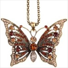 Fashion Butterfly Pendant Sweater Chain Necklace Jewelry Neck Decor for Ladies Girls