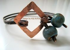 Earth Girl Cuff Rustic Antiqued Copper Handcrafted Bracelet. via Etsy.
