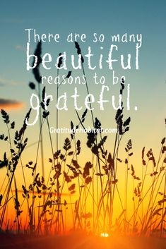 There are so many beautiful reasons to be grateful. 8 x 10 print.  Visit us at: www.GratitudeHabitat.com #gratitude #grateful #thankful
