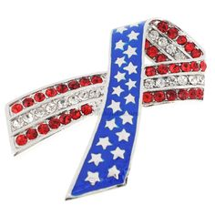 7dfe5b77ece0 American Flag Patriotic Ribbon Pin Brooch