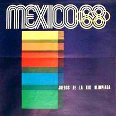 Mexico 1968 Olympic Poster Design by:   Pedro Ramirez Vázquez   Lance Wyman   Eduardo Terrazas   Size: 82,5 x 82,5 cm