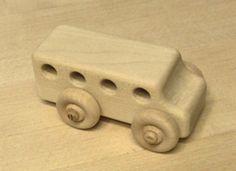 Unit-blocks :: CP303 Bus Hard Maple Unit Block Vehicle Set in Hard Rock Maple :: Carolina Pratt Unit Blocks - Wooden Blocks - Made in the USA - The Original Standard Unit Blocks - Wooden Toys