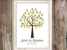 Wedding Thumbprint Tree Alternative Guest Book by ChelsiLeeDesigns, $12.00