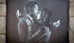 Banksy Caught On Camera | Caught on camera! CCTV shows Banksy working on mural now being sold by ...