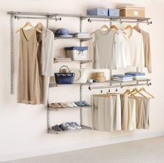 Amazon.com: Rubbermaid 3H89 Configurations 4-to-8-Foot Deluxe Custom Closet Kit, Titanium: Home & Kitchen