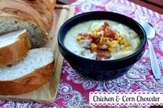 Mommy's Kitchen: Chicken Corn Chowder & Chicken Tacos {2 Meals 1 Rotisserie Chicken}
