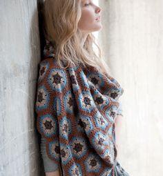 Modèle plaid au crochet - Modèles tricot accessoires - Phildar