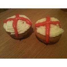St Georges day cupcakes