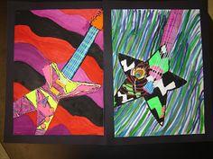 Jamestown Elementary Art Blog: 5th grade Guitars - Industrial Design