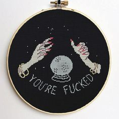 You are Fcked-Subversive Cross Stitch-Mature Words