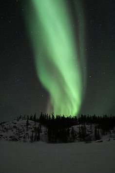 ✯ Stunning Emerald Aurora must see this. Beautiful Sky, Beautiful World, Beautiful Lights, Beautiful People, Voyager C'est Vivre, Gods Creation, To Infinity And Beyond, Night Skies, Pretty Pictures