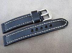leon / Kožený remienok 20mm čierny