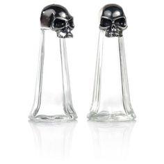 Skull Salt and Pepper Set - Skullspiration.com - skull designs, art, fashion and more