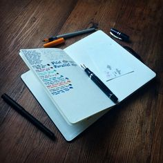 """""""The best way to overcome the fear of a blank page is to start by testing different kinds of pens. This Moleskine sketchbook paper is very promising."""""""