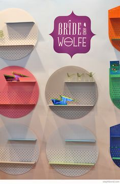 Bondville: 10 products to watch from Sydney Kids InStyle 2015 - Bride and Wolfe perforated metal shelves