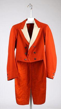 Hunting coat   Great Britain, 1897   Materials: wool, silk   The Metropolitan Museum of Art, New York