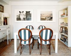 dining chairs - love the wide stripe