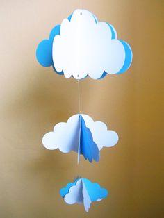 Móvil de cartulina: Nubes