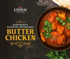 Hotel Crown Palace serves the most delectable and authentic Butter Chicken. The tender chicken pieces seeped in aromatic gravy will win your heart for sure! Indian Food Menu, Indian Dishes, Indian Food Recipes, Ethnic Recipes, Food Graphic Design, Food Poster Design, Food Design, Restaurant Menu Design, Restaurant Poster