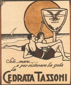 It was and the Italians had two wishes: a relaxing beach holiday and a fresh Cedrata Tassoni. Retro Poster, Poster Vintage, Vintage Books, Art Deco, Art Nouveau, Vintage Advertisements, Vintage Ads, Vintage Italian Posters, Retro Art