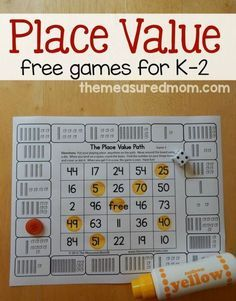 for place value games for kids in Print these free games to give your child practice counting hundreds, tens, and ones.Looking for place value games for kids in Print these free games to give your child practice counting hundreds, tens, and ones. Math Games For Kids, Math Activities, Grade 2 Math Games, Kindergarten Math Games, Learning Games, Teaching Resources, Place Value Games, Place Value Activities, Math Intervention
