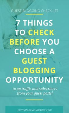 Want to start guest blogging but don't know which target blogs can really help you grow your traffic? Take this free checklist that makes finding the best guest blogging opportunities a no brainer!