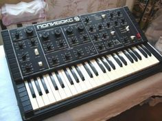 """A Soviet-era analog synth, the Поливокс (or Polivoks). Still knocking around on eBay, apparently. VI Lenin was a fan of the Theremin, y'know - he thought it """"the people's instrument"""" (инструмента народа). Nutter."""