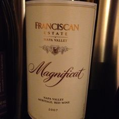 Franciscan Estate. Magnificat. Hit it spot on.