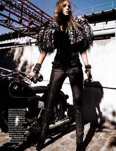Feathered Shoulder Pads: The Heather Marks Vogue Mexico Editorial is Uniquely Rebellious