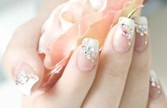 Nails - classic french manicure with a twist. Nails - classic french manicure with a twist. Nails - classic french manicure with a twist. French Nail Designs, Nail Designs Spring, Gel Nail Designs, Fingernail Designs, Fancy Nails, Cute Nails, Pretty Nails, Sparkly Nails, Pink Sparkles