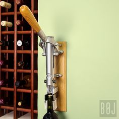 Lowest price on BOJ USA Matte Chrome Professional Wall-Mounted Corkscrew with Wooden Backing Shop today! Wall Mounted Bottle Opener, Wine Bottle Opener, Wine Bottles, Home Bar Cabinet, Wine Tasting Room, Wine Chillers, Gold Models, Beautiful Kitchens, Bars For Home