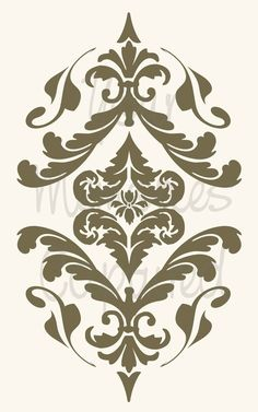 French Damask Flourish D Reusable Stencil  by YourMemoriesCaptured, $12.00