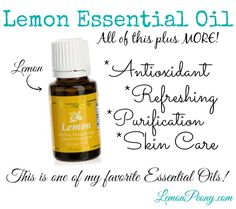Lemon Essential Oils is one of my favorites! Smells great and works even better!